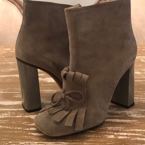Vero Cuoio Grey Suede And Leather Booties Sz. 37